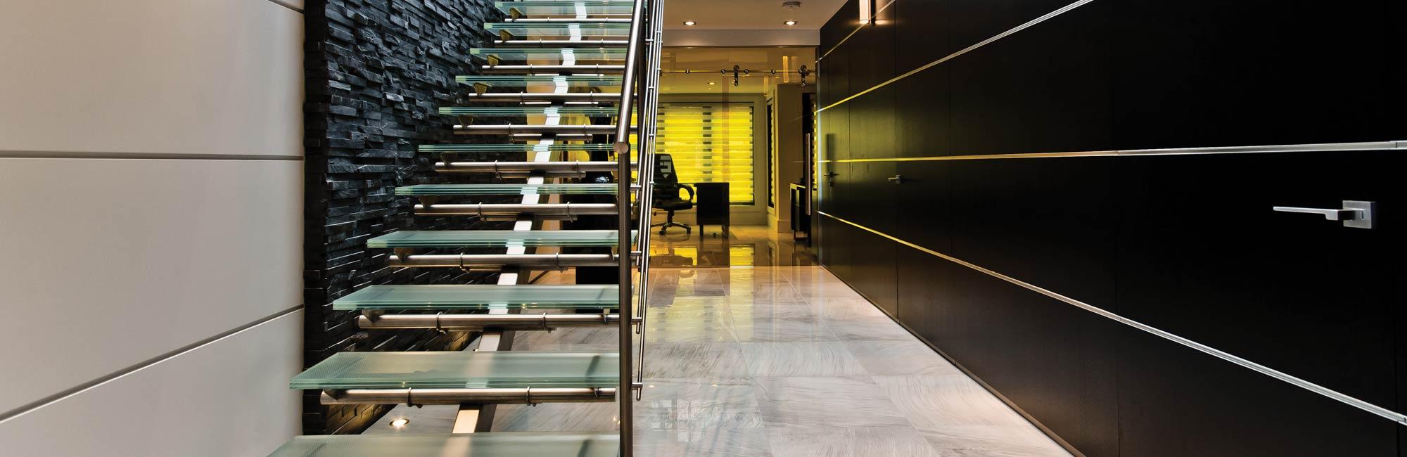 Escalier de verre
