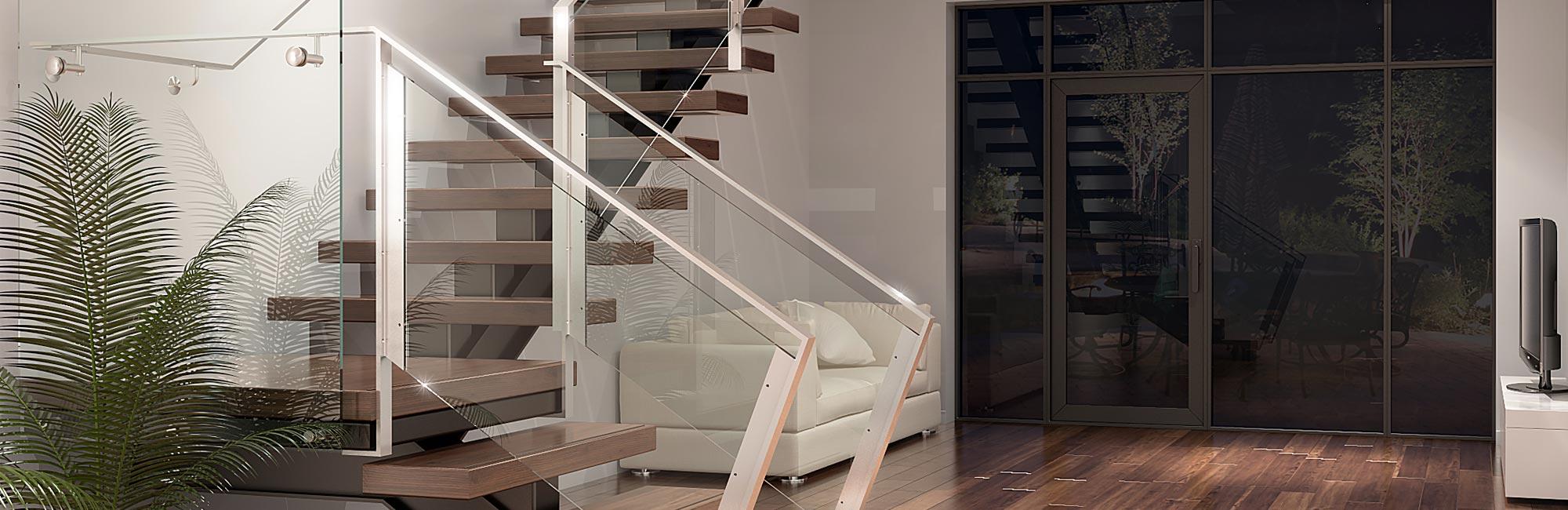 Escalier verre